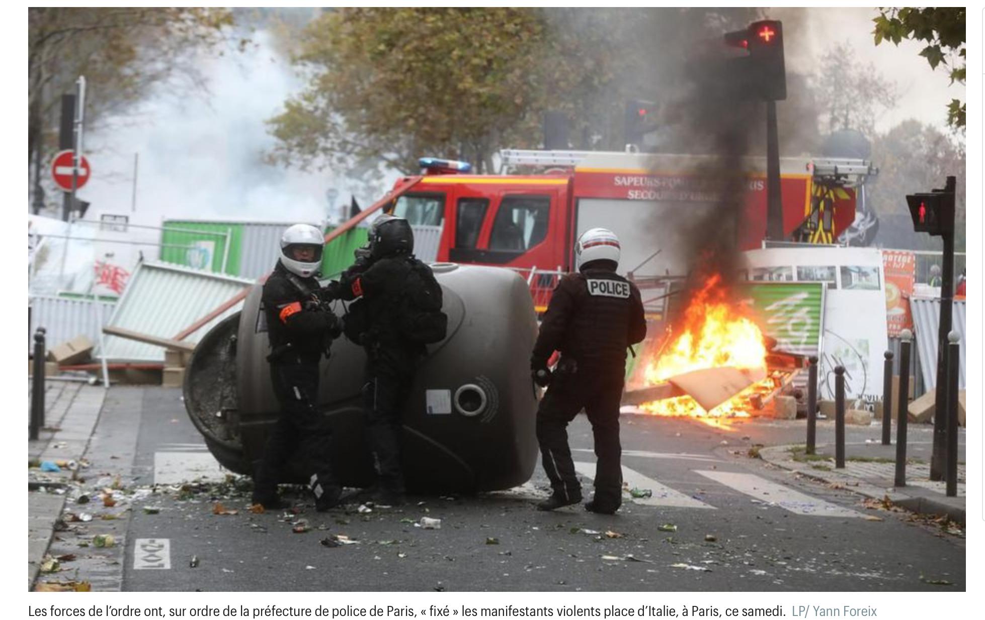 Paris : jeunesses macroniennes et mélenchoniennes sabordent les vrais Gilets Jaunes