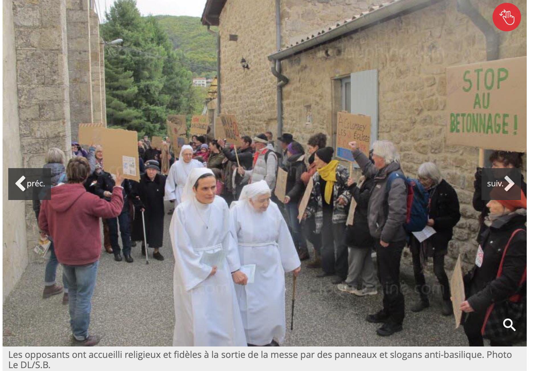 Ardèche : les gauchos-écolos vent debout contre la construction d'une basilique chrétienne !