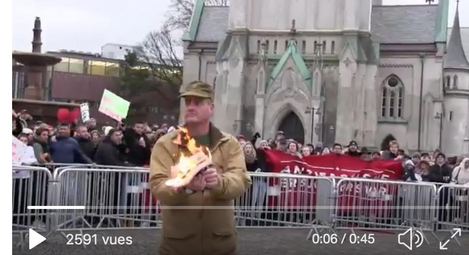 Un Norvégien : je brûle le Coran publiquement, j'en ai le droit, et je vous emmerde