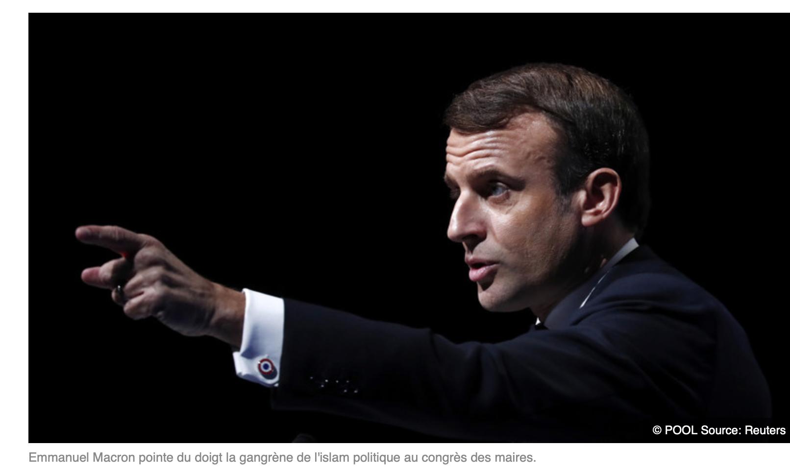 Pendant le discours vide de Macron sur le communautarisme, des Maires ont quitté la salle par dizaines