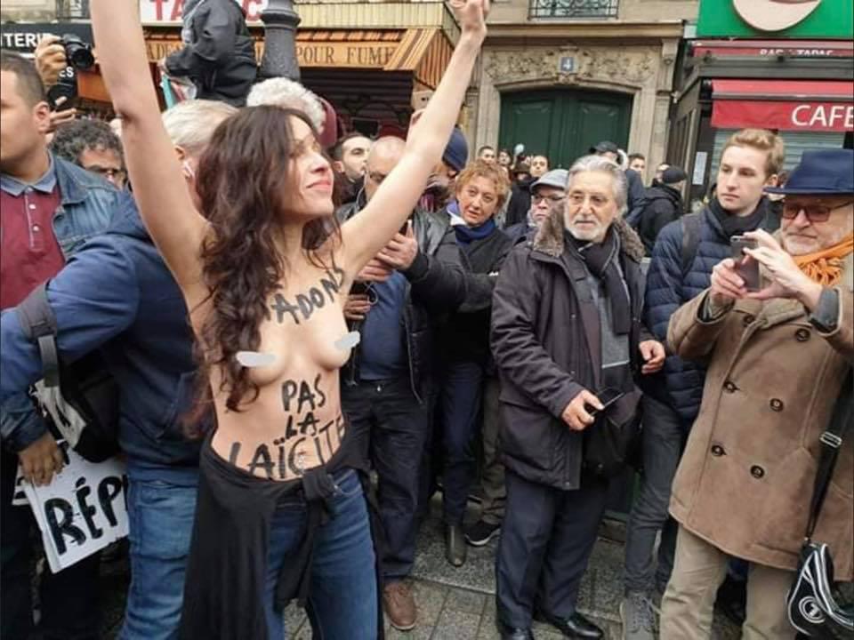 Meriam, seins nus contre l'islam, pour la défense de la laïcité et le droit au blasphème !