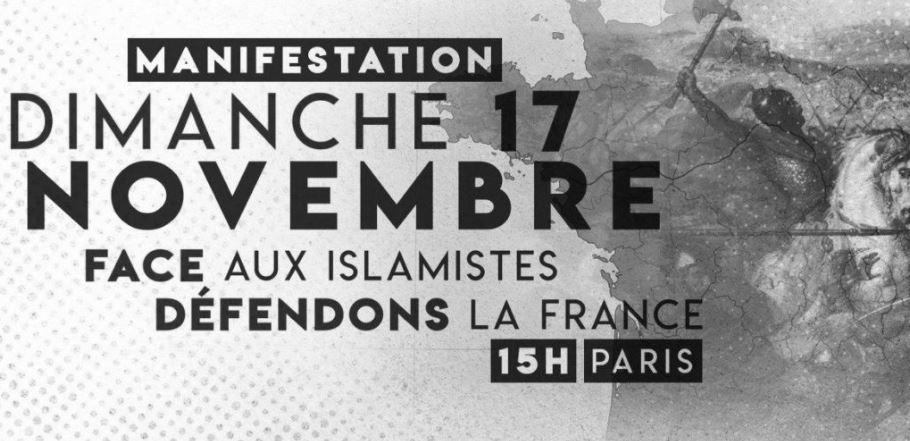 Pourquoi vous devez venir manifester contre l'islamisme le 17 novembre