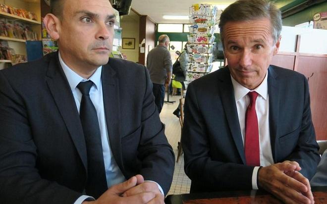 Djihadpour les municipales: les petits fascistes agressent Nicolas Dupont-Aignan à Vigneux