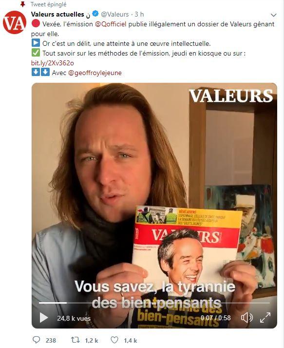 Pierre Cassen : pied de nez à Yann Barthès, j'ai acheté Valeurs Actuelles  (video)
