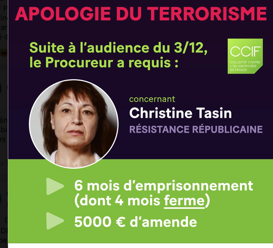 CCIF contre Tasin : Ouadie Elhamamouch reconnaît que le terrorisme et l'islam, c'est la même chose