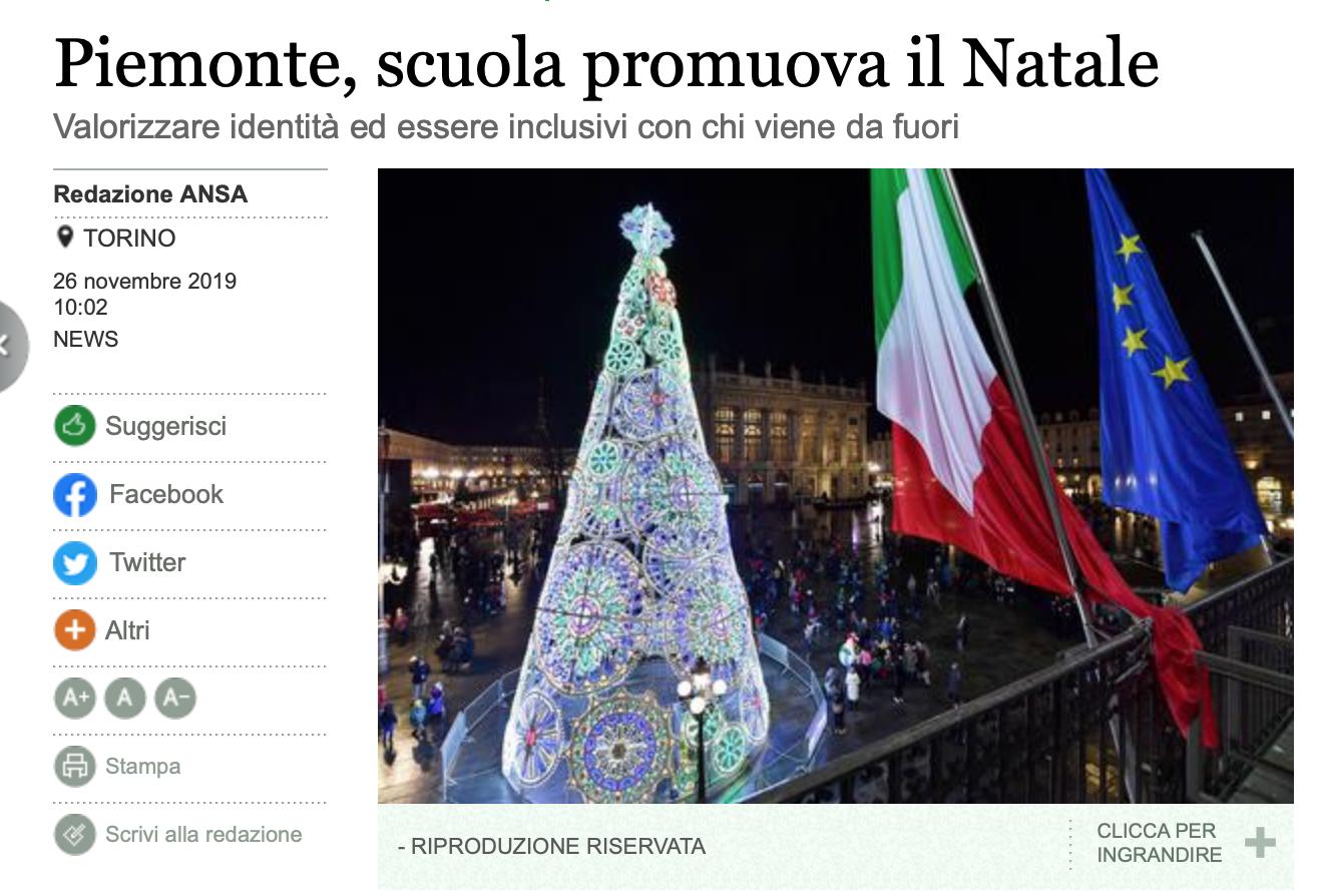 Dans le Piémont, les écoles doivent promouvoir Noël et le faire découvrir aux étrangers