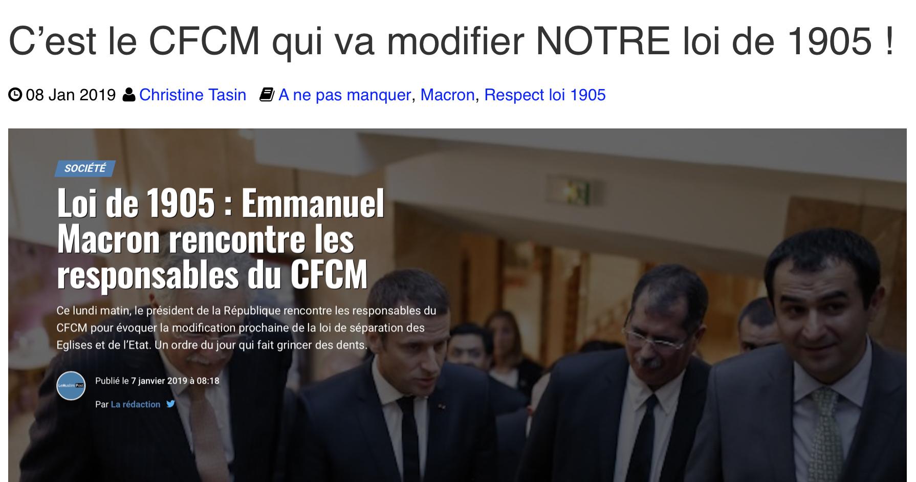 9 décembre,  anniversaire  de la loi de 1905, cocufiée chaque jour par Macron