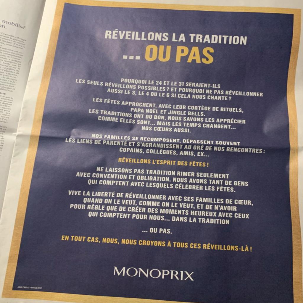 Monoprix veut en finir avec Noël ? Moi je veux en finir avec Monoprix !