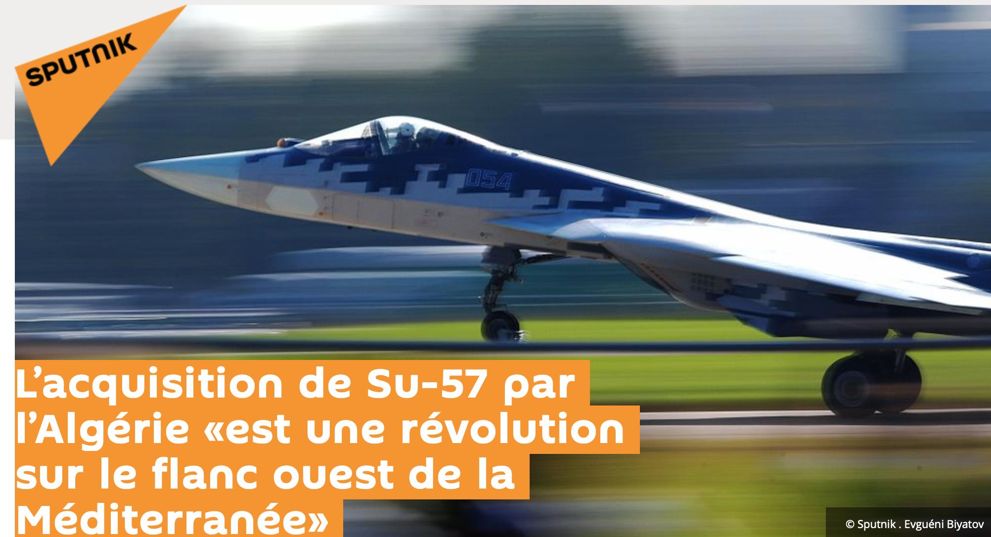 L'Algérie pauvre comme Job achète des avions de combat : pour préparer une guerre de civilisation ?