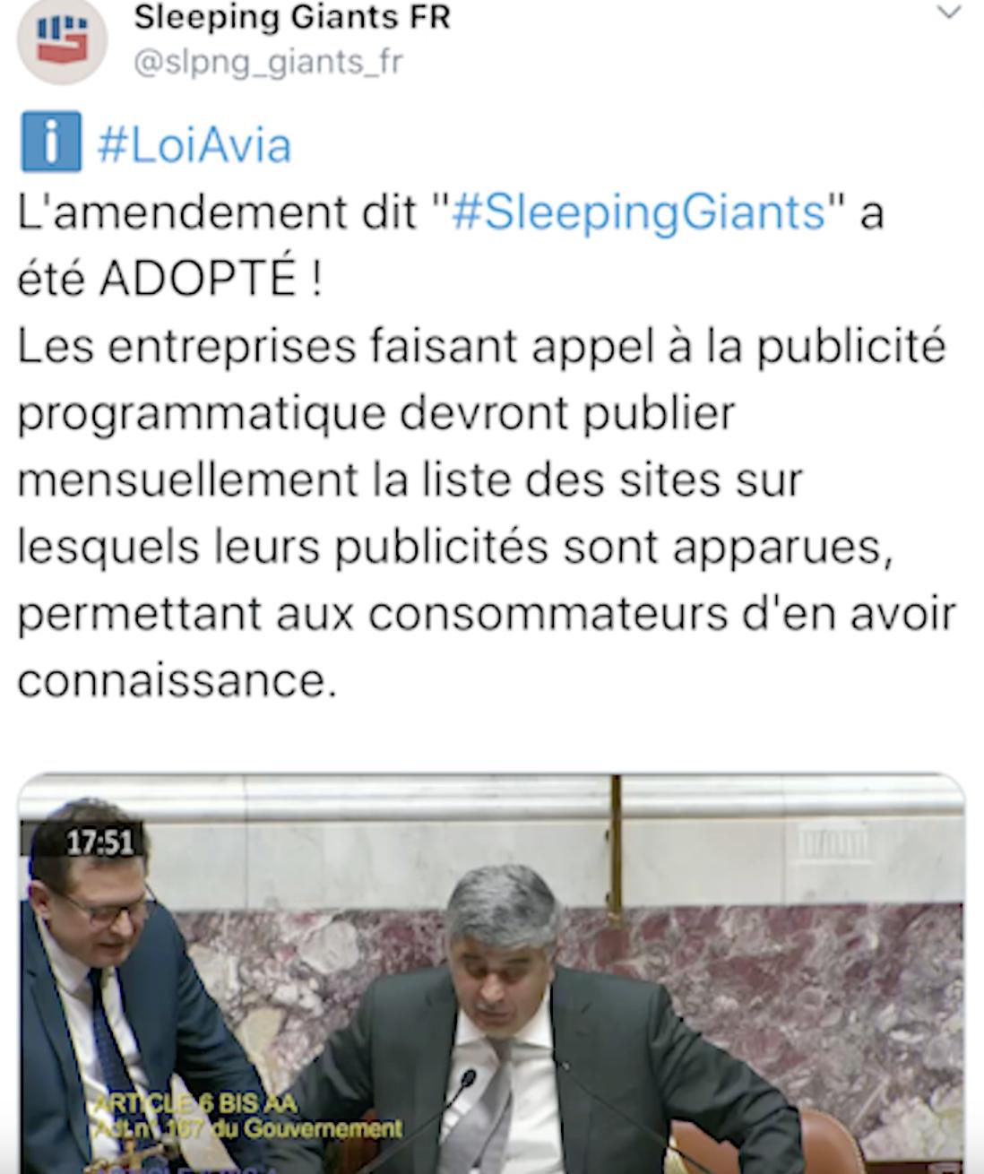 Encore une monstruosité : la loi Avia fait des «sleeping giants» des auxiliaires officiels du pouvoir !