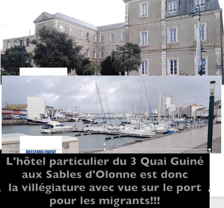 Sables d'Olonne : migrants logés en hôtel particulier avec vue sur le port, pendant que nos Josette meurent de faim