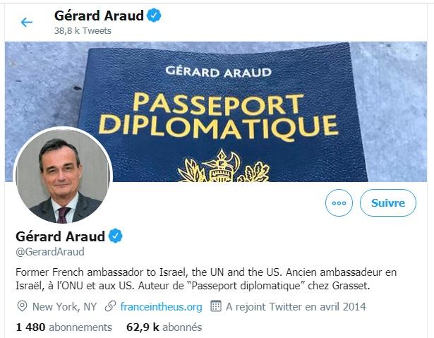 Gérard Araud, censé représenter la France, s'en prend à Zineb !