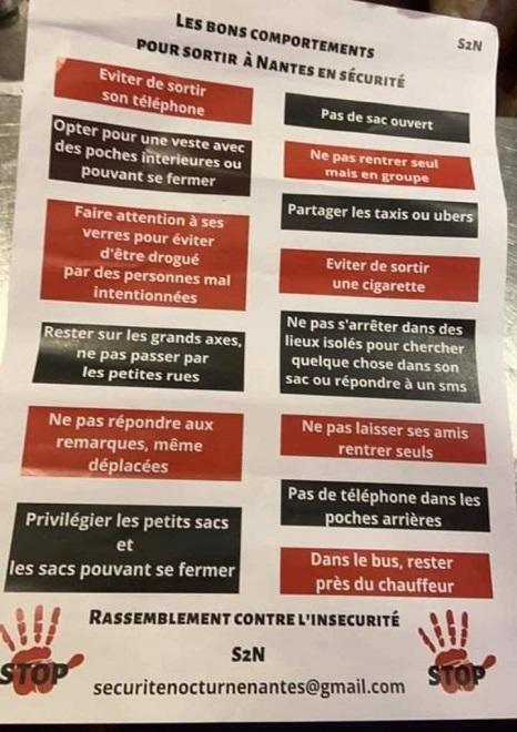 Affiche de Nantes: «Quand ils seront 20%, les Français devront raser les murs » (J.M. Le Pen)…»