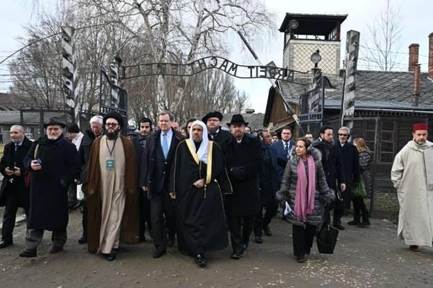75ème anniversaire de la libération d'Auschwitz avec la ligue islamique mondiale  !!!