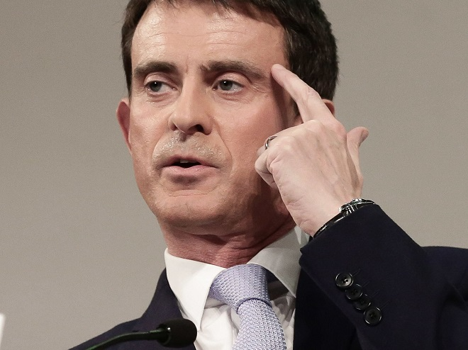 L'héritage de Valls à Evry? Le pauvre logo du PS et le «pâté au caca» halal de la Grande Mosquée