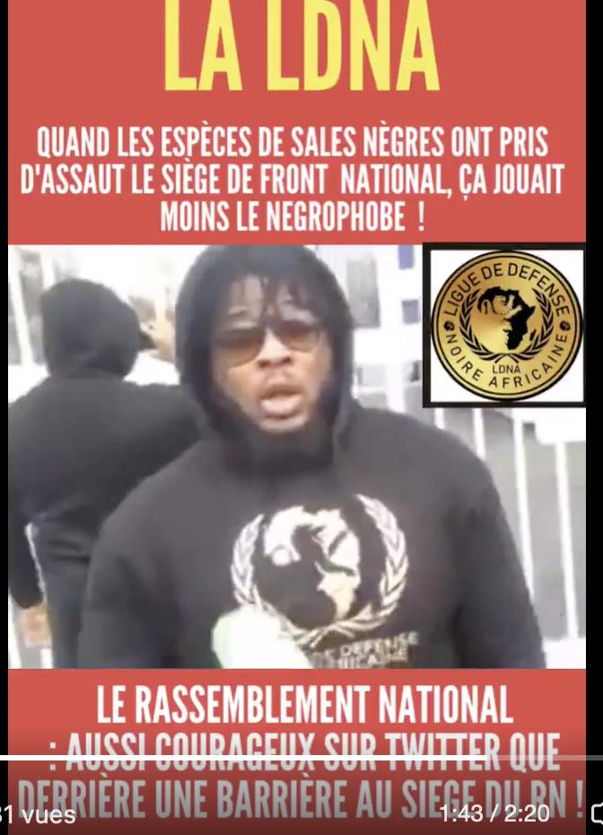 La Ligue de Défense Noire Africaine attaque le RN et menace les Français : Castaner laisse faire