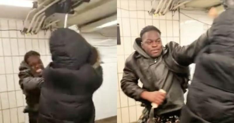 Une Chinoise attaquée par un Noir pour avoir porté un masque à New York, les médias ignorent l'histoire