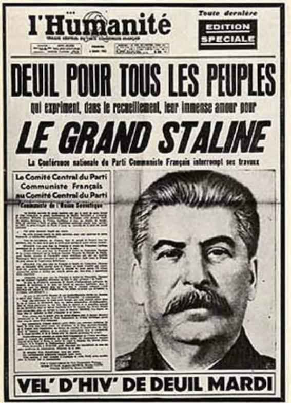 Condoléances à Brossat-Deschamps, et à tous les collabos staliniens : Staline est mort il y a 67 ans