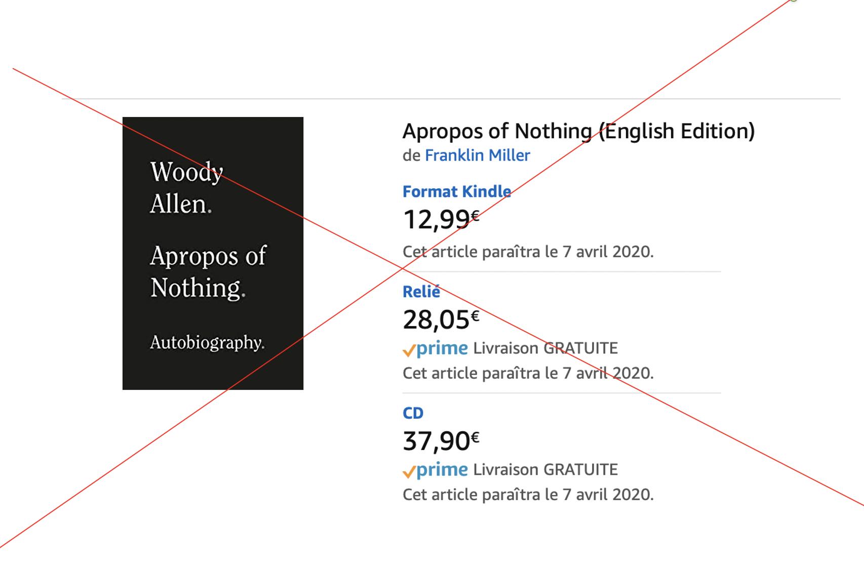 Hachette aux mains des pédophiles du Qatar refuse de publier Woody Allen !