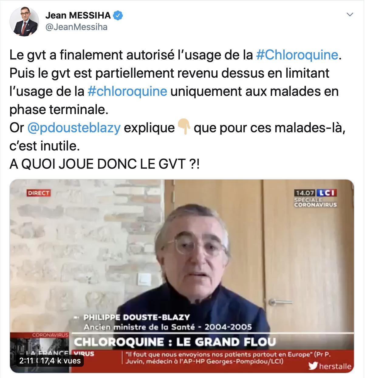 Chloroquine et Big Pharma : les saloperies du gouvernement en 3 tweets