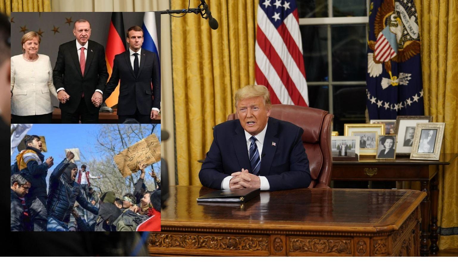 Trump ferme ses frontières pendant que Merkel et Macron les ouvrent