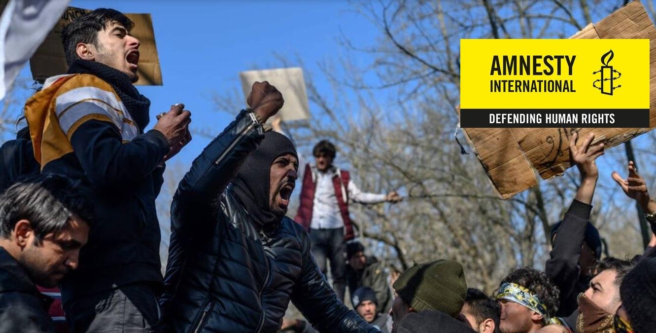 En écriture inclusive, Amnesty International exige l'accueil des migrants d'Erdogan