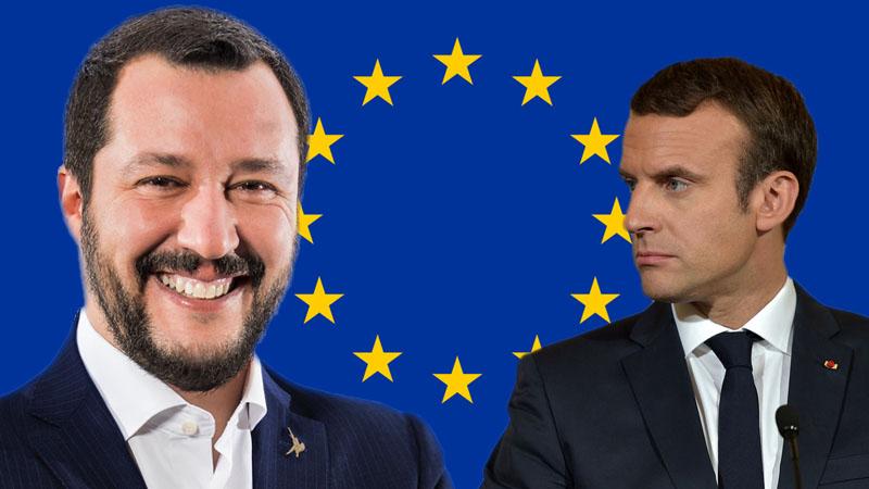 Macron pleure la mort de l'UE  pendant que Salvini envoie se faire foutre ce «repaire de serpents et de chacals»