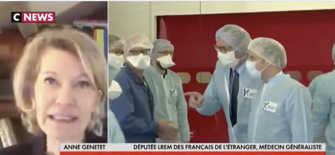 La morgue LREM incarnée par Anne Genetet, député nous accusant de ne pas nous laver les mains