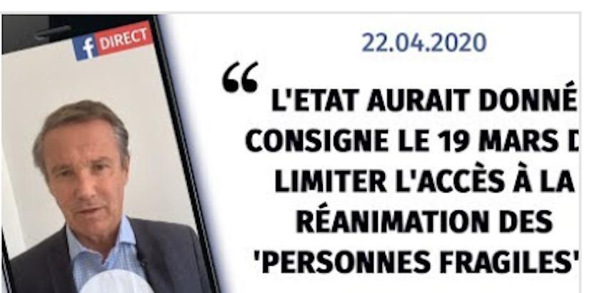Extermination des vieux : en France, on n'a pas de Zyklon B, mais on a Macron
