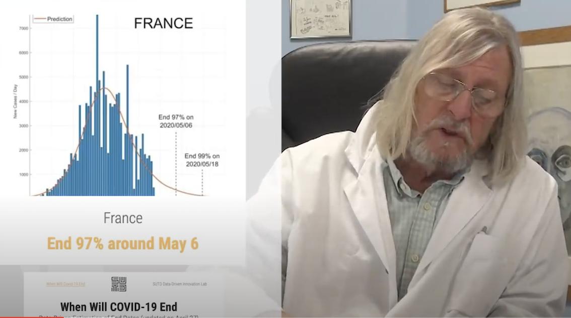 Didier Raoult : si tout va bien, l'épidémie sera pratiquement finie le 19 mai en France