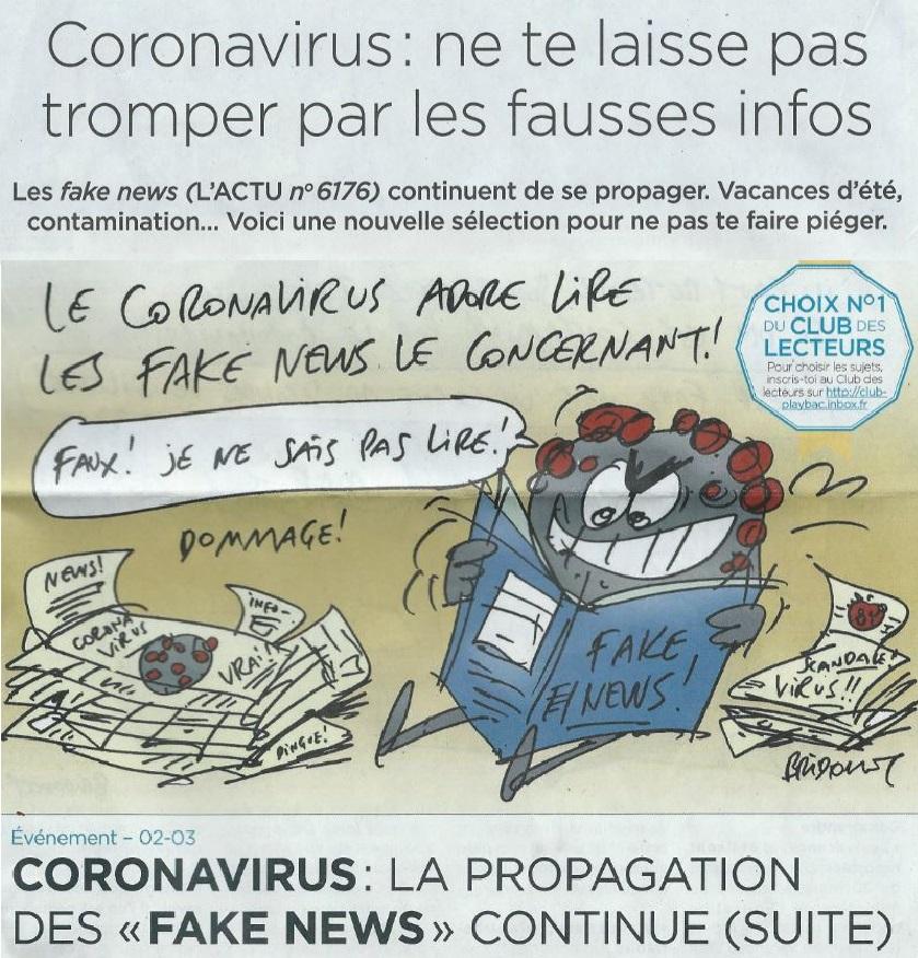 Coronavirus : pour l'Actu, il faut faire confiance à Libé, Le Monde, l'Afp et… au gouvernement