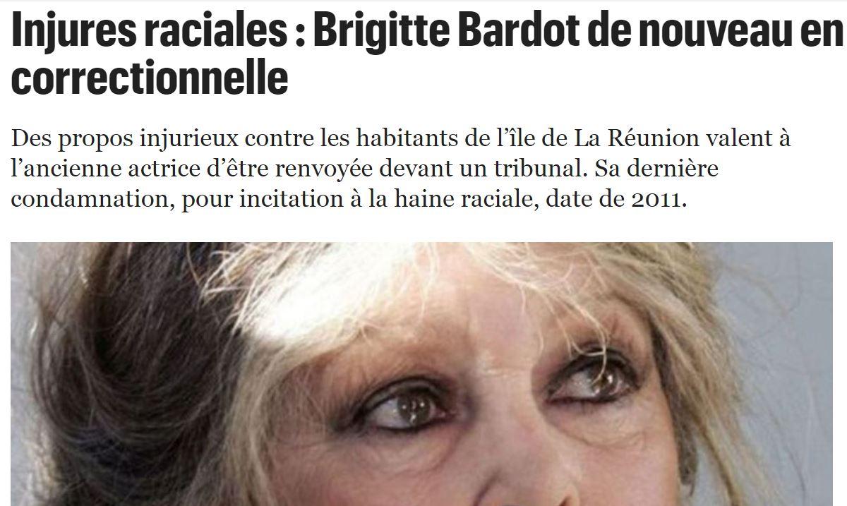 BB dénonce la barbarie envers les chiens à la Réunion ? Au tribunal, poursuivie pour racisme !