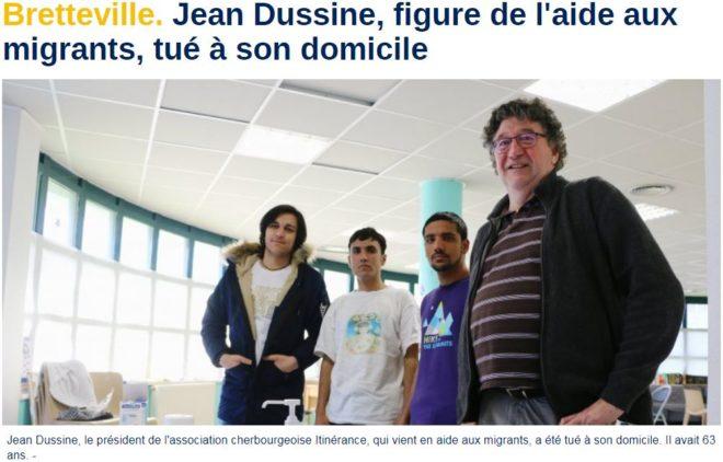L'assassinat de Dussine par son migrant ne leur a pas servi de leçon : la propagande tourne à plein