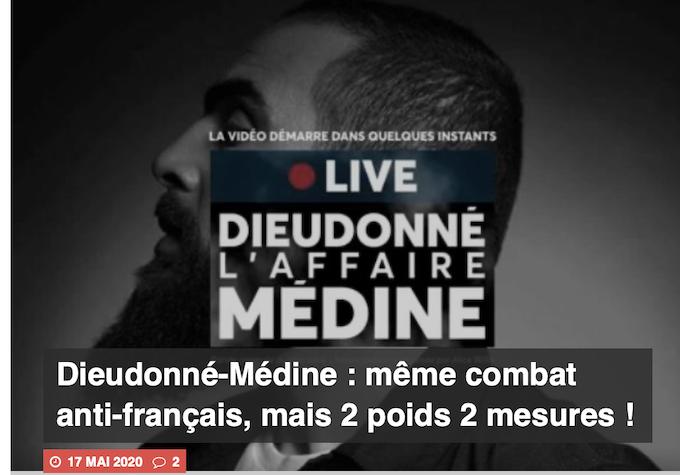 Pierre Cassen : Dieudonné-Médine : même combat anti-français, mais 2 poids 2 mesures ! (video)