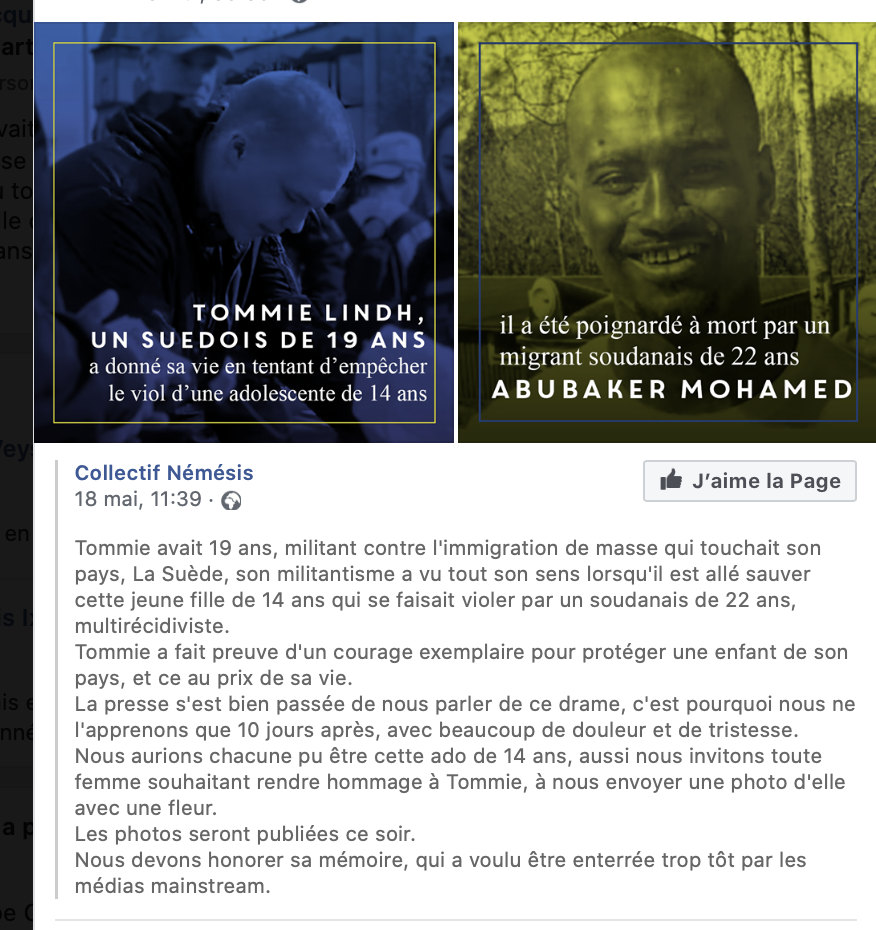 Hommage à Tommie Lindh, poignardé par un Soudanais qui violait une gosse et oublié des medias