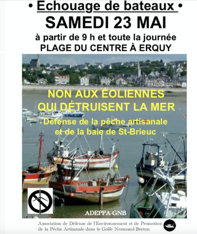 Urgent : Macron veut implanter 62 éoliennes dans la baie de St-Brieuc… 2400 personnes au chômage