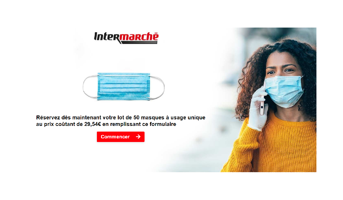 30€ les 50 masques (avec communication de vos données en prime ?) : c'est Macron qui rembourse ?