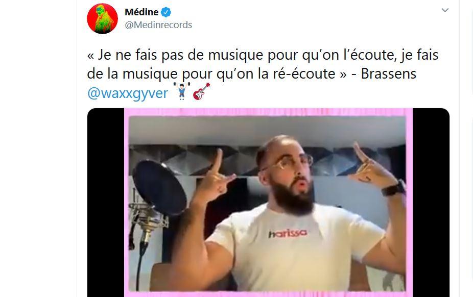 Sacrilège : l'islamo-caillera Medine reprend Georges Brassens