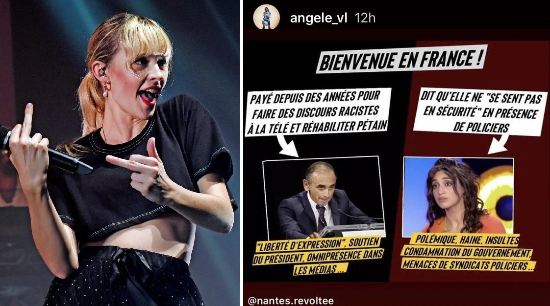La chanteuse belge Angèle soutient Camélia Jordana mais dénonce «les discours racistes» de Zemmour