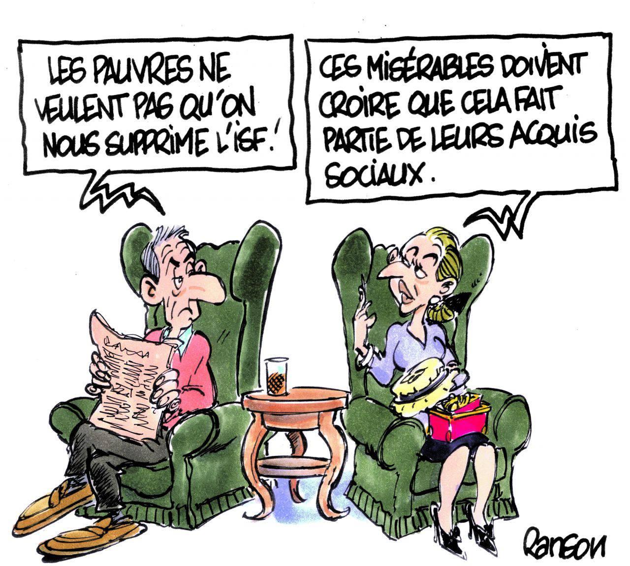 La France donne près de 200 milliards aux sangsues mais les gauchos s'attaquent à l'ISF…