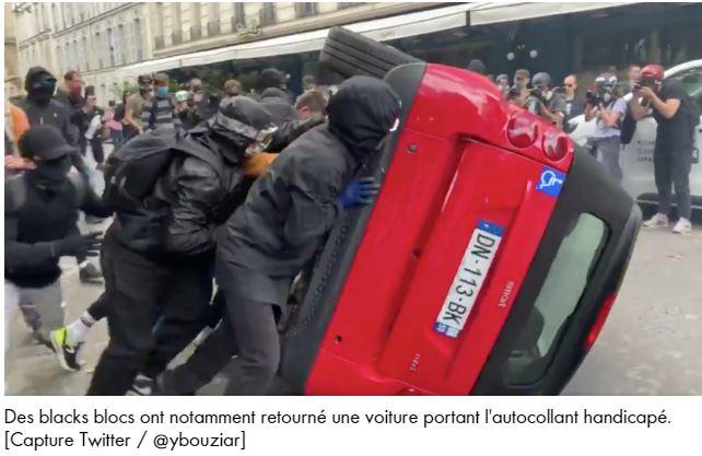 Black Blocs et Antifas ont fait leur boulot de collabos, miliciens de Macron-Soros