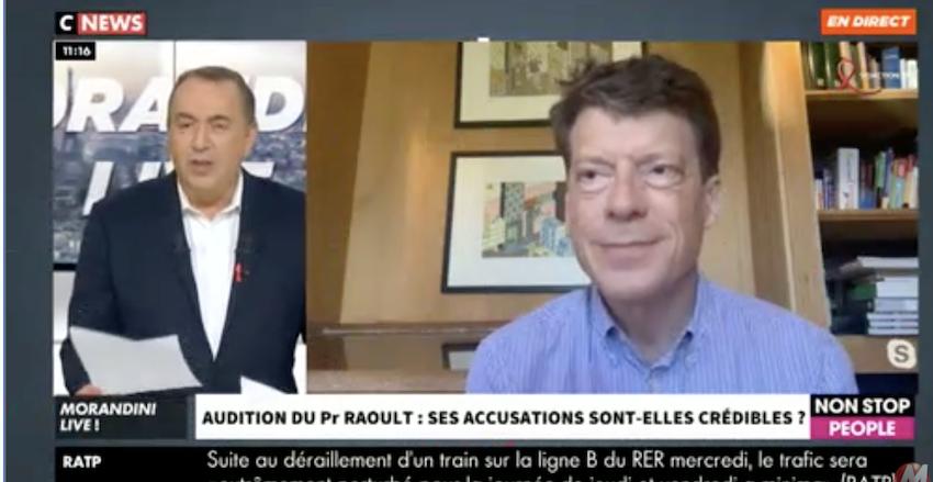 Raoult : chez Morandini, le caniche de Macron Laurent Alexandre essaie de sauver les meubles
