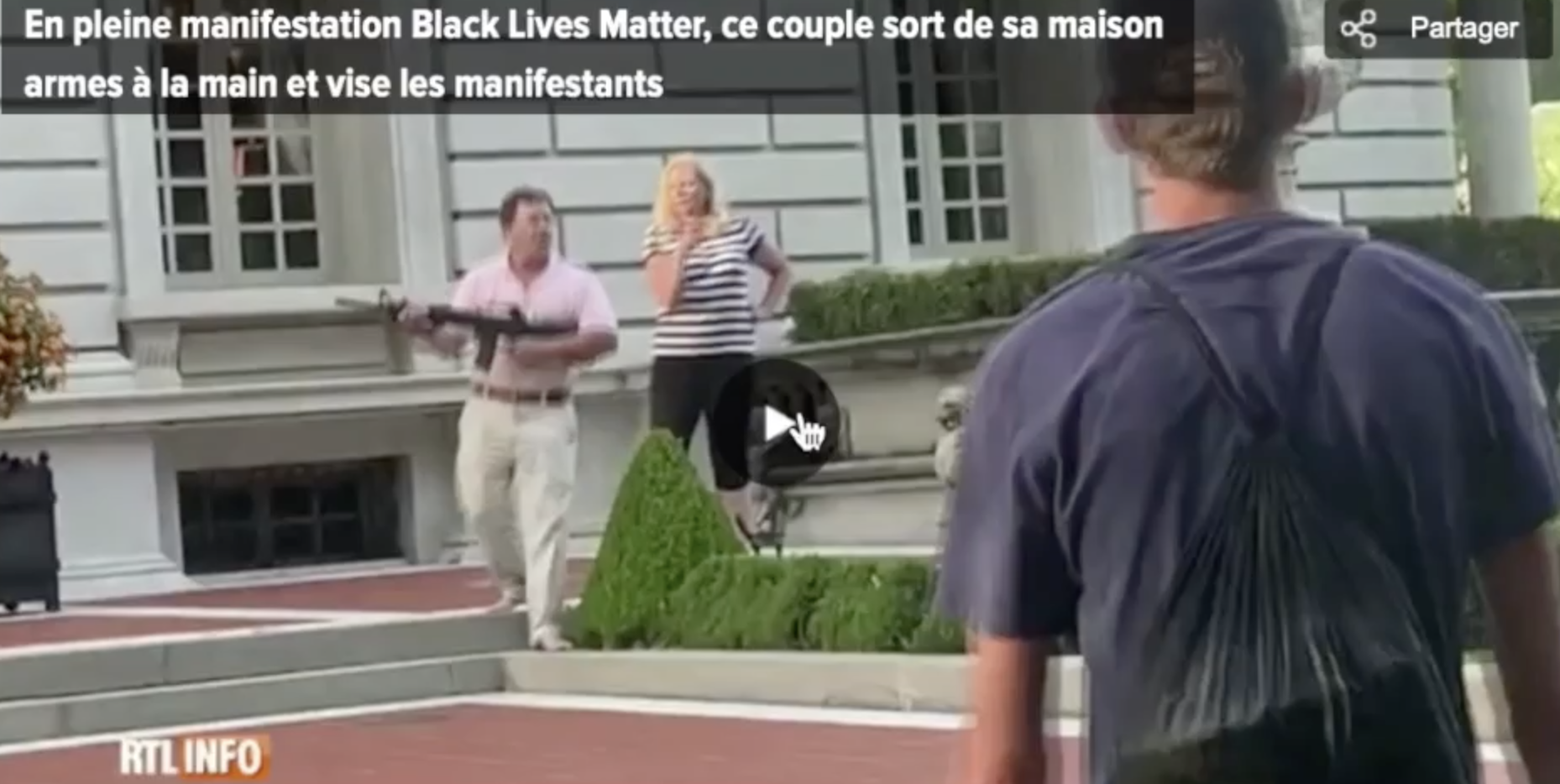 Etats-Unis : des Blancs ont peur d'une manif BLM… et sortent les armes
