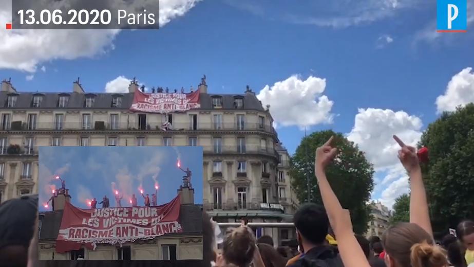 A Paris, Génération Identitaire déploie une banderole «Justice pour les victimes du racisme antiblanc»