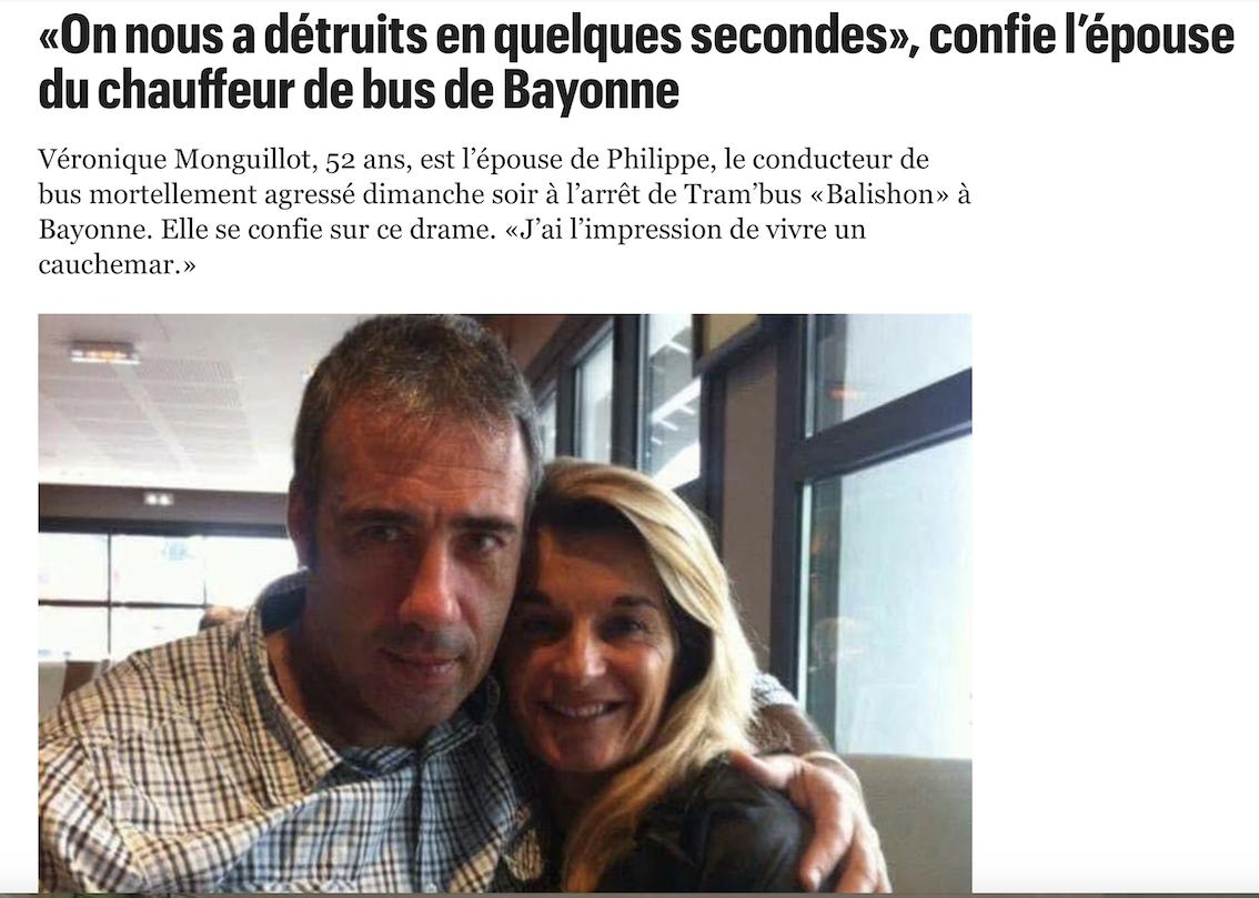 Pas un mot dans les medias pour dire qui sont les 4 racailles qui ont tué Philippe, chauffeur de bus à Bayonne