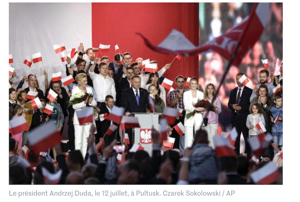 Génial, l'anti-UE Duda ré-élu en Pologne ! Quelle claque pour les mondialistes ! Champagne !