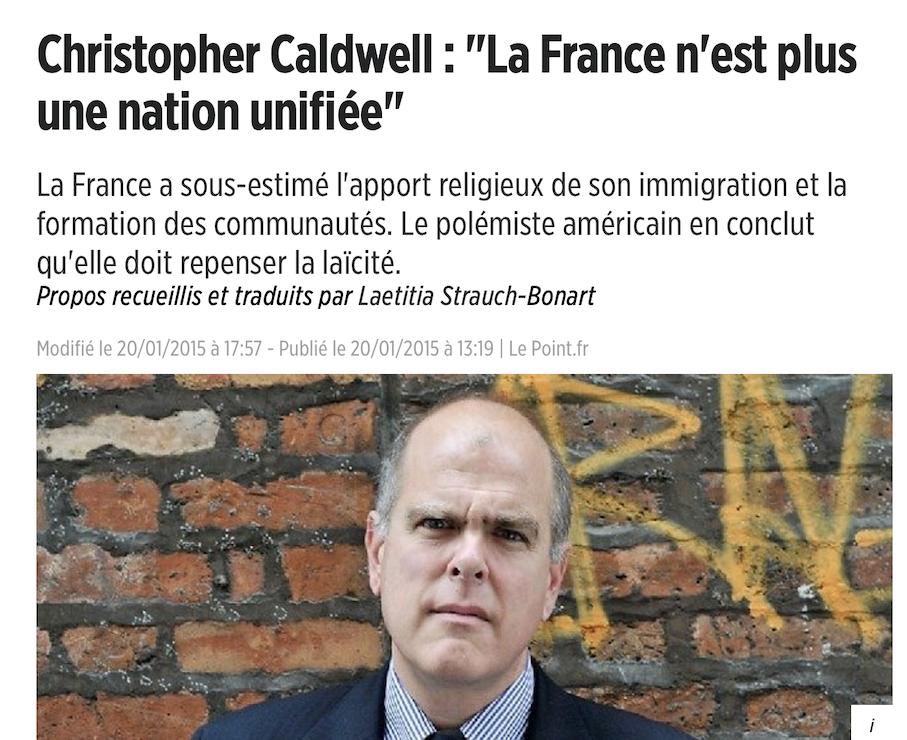 Christopher Caldwell, journaliste américain : la France va payer très cher son politiquement correct