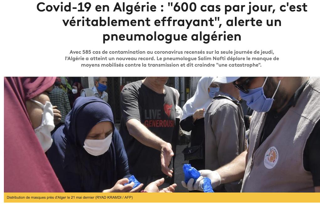 Ils nous reviennent d'Algérie avec le coronavirus !