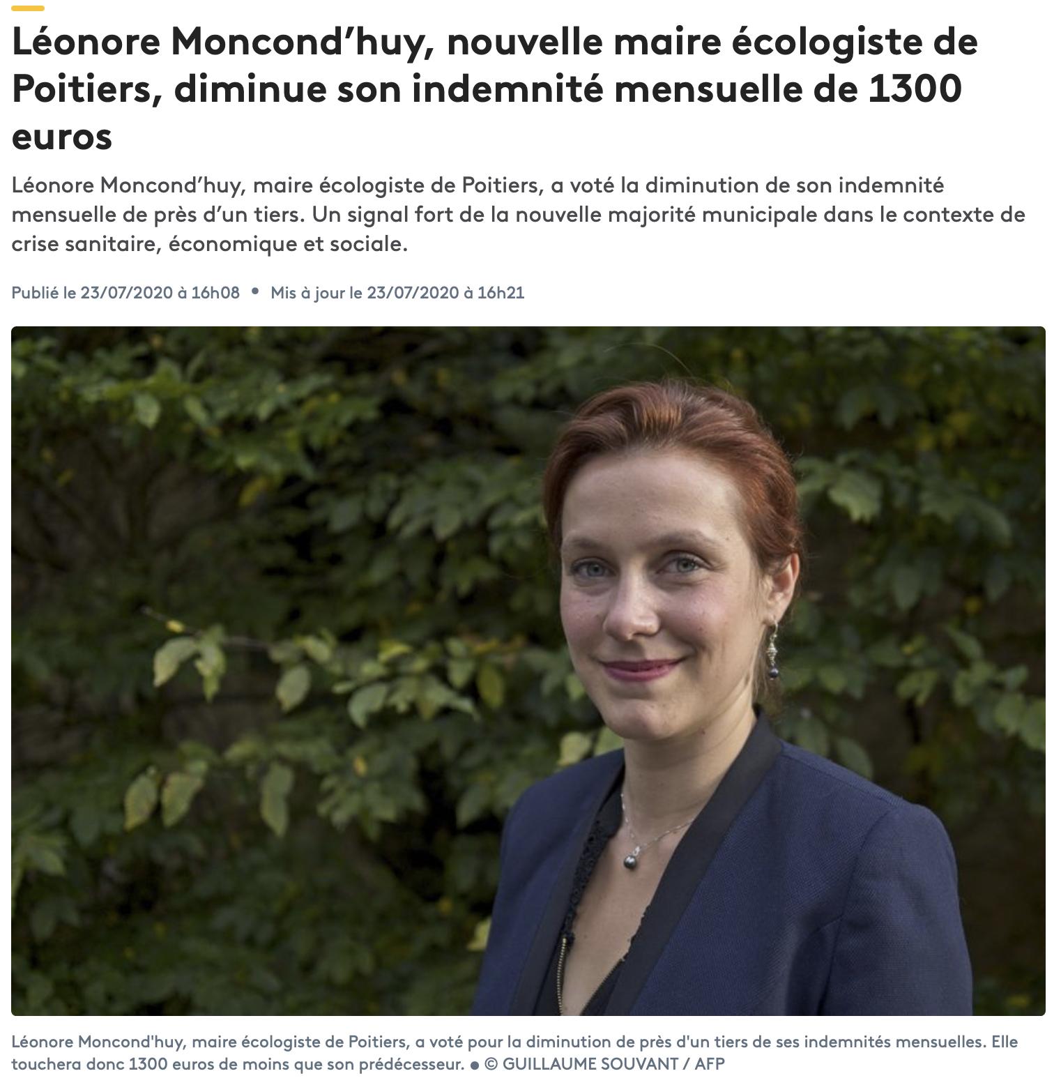 Poitiers : Léonore Moncond'huy élue grâce au vote des cités
