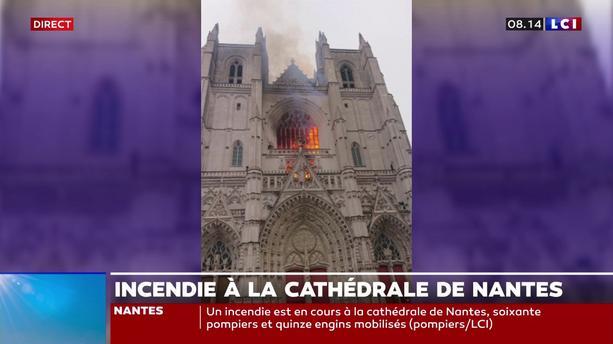 Cathédrale de Nantes incendiée : la piste criminelle est envisagée (vidéo)